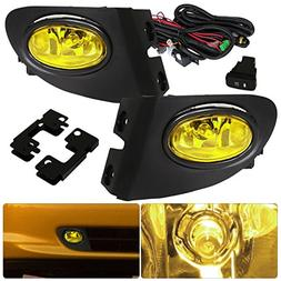 For Honda Civic Si Hatchback Ep3 Yellow Fog Lights Lamp Fron