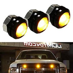 iJDMTOY SVT Raptor Style Amber LED Grille Lighting Kit Unive