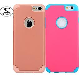 iPhone 6/6s Plus Case, iBarbe Hybrid Heavy Duty Soft Rubber