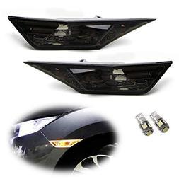 iJDMTOY JDM Smoked Lens Amber LED Bulb Front Side Marker Lig