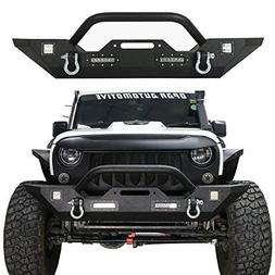 Hooke Road Jeep Wrangler Front Bumper, Rock Crawler Bumper w