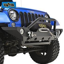 E-Autogrilles 51-0328 07-16 Jeep Wrangler JK Front Bumper wi