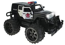 Jeep Wrangler Police Unit 1:14 Scale Battery Operated Remote