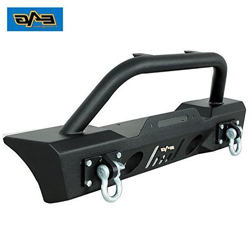 E-Autogrilles 51-0357 Wrangler JK Black Stubby Fog