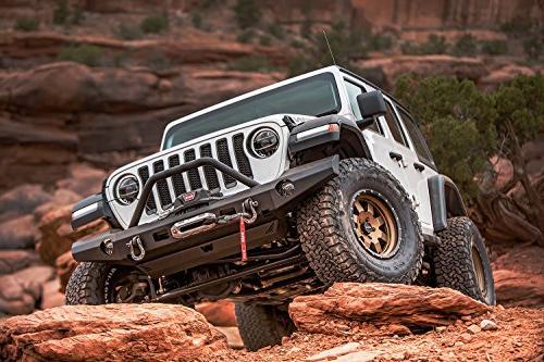 WARN 101337 Full-Width Bumper for Jeep JL Wrangler, Grille Guard