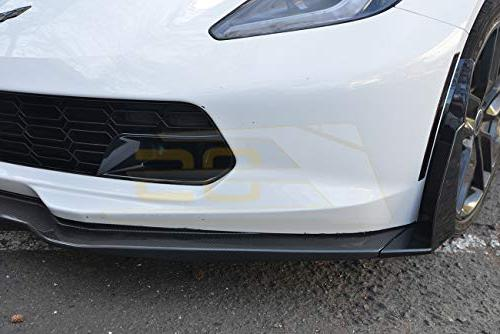 for C7 Stage Plastic Carbon Metallic Front Lower Splitter Side Extension