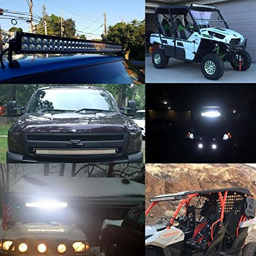 40-42In Curved Bar Front 4In Pods Fog Lights Ram Jeep Toyota SXS Marine Wildcat Limited 4x4