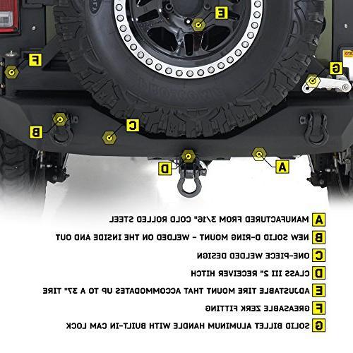 Smittybilt 76856 XRC Black Textured Hitch Tire for Jeep Wrangler/Wrangler