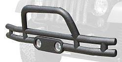 Rampage Products 88625 Textured Black Double Tube Front Bump