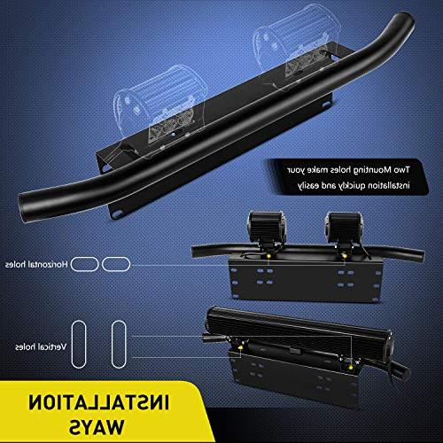 Nilight Light Bar Mounting License Plate Frame for Off-Road Work Lamps Years Warranty