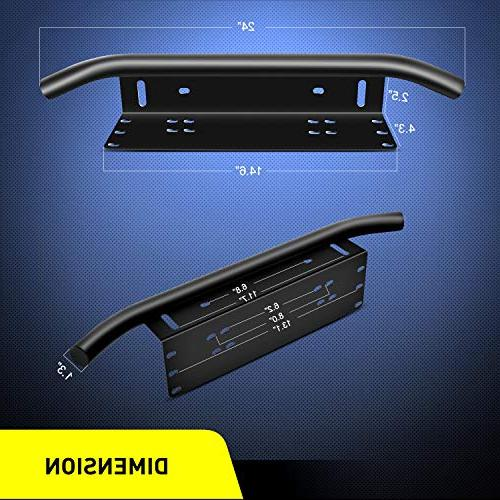 Nilight Light Mounting Front License Plate Bracket Plate Bracket for Lights LED Work Lamps Lighting Bars,2 Years