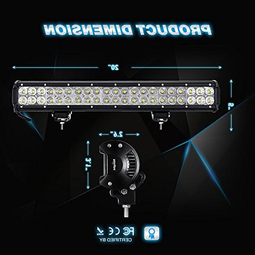 Nilight Light 20 Inch LED Lights Flood Led Driving Lights Lights Jeep Lighting Years Warranty