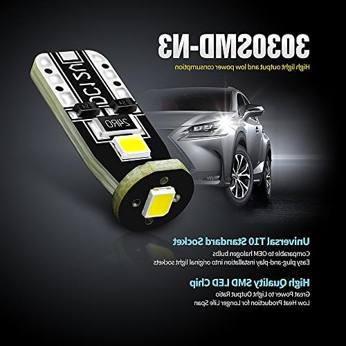 SiriusLED Extremely Chipset LED Car Door Courtesy License Lights Compact 168 White Pack