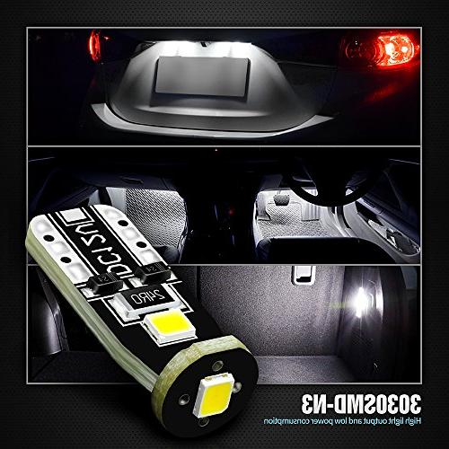 SiriusLED Extremely Chipset for Car Interior Dome Map Door Courtesy Plate 168 194 White Pack