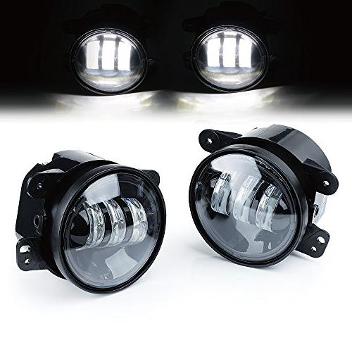"""Xprite 4"""" Inch 60W CREE Led Fog Lights for Jeep Wrangler 199"""