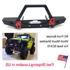 Alloy Front Bumper Winch w/ Mount Shackles for Axial SCX10 1