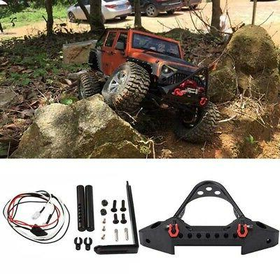 Alloy Front Bumper With LED Light Shackle For Traxxas TRX-4