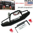 Alloy Metal Front Bumper w/ Winch Mount LED For Traxxas TRX-