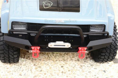 Aluminum Front Bumper w/ Winch Mount LEDs Traxxas TRX-4 1/10 RC Car