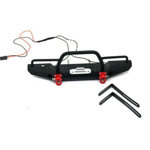Aluminum Bumper w/ Winch Mount LEDs Traxxas TRX-4 SCX10 1/10 Car