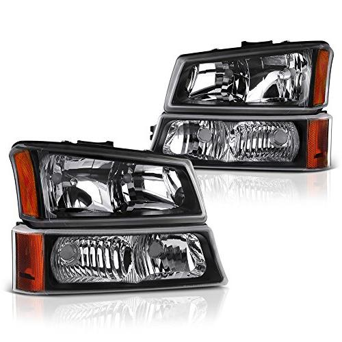 black housing headlight and front turn signal