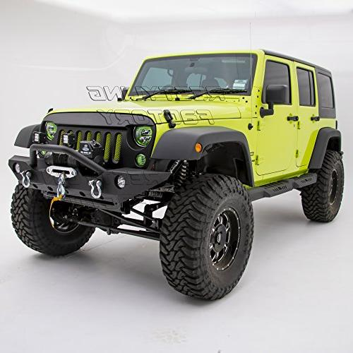 Restyling Front Bumper Fog Lights & D-Ring & Winch for Wrangler