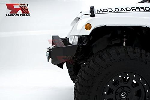 "Razer Auto Rock Crawler Stubby Light 2x and 22"" LED Light bar Winch for 07-18"