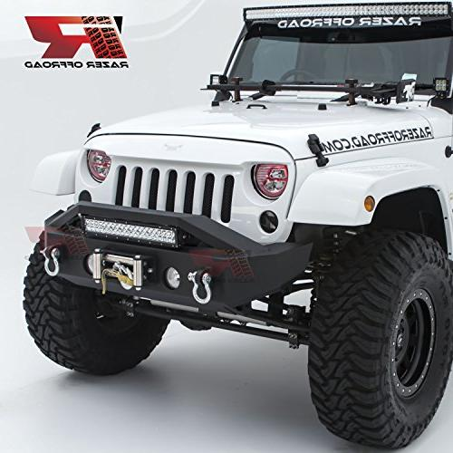 black textured rock crawler stubby front bumper