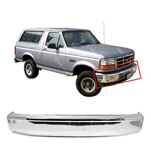 chrome steel front bumper face bar