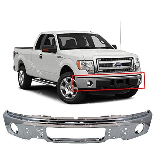 chrome steel front bumper face bar fascia