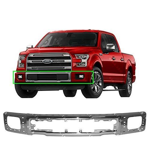 chrome steel front bumper face bar shell