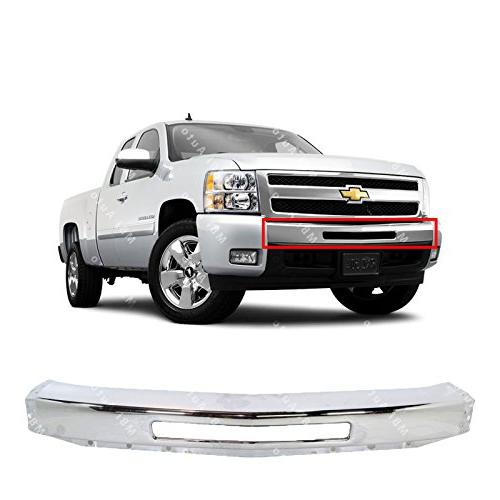 chrome steel front bumper impact face bar