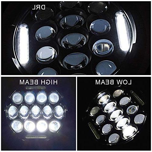 DOT 2PCS Round Beam DRL + LED Turn Light + 4Inch Bumper 1PCS LED 3rd Third Brake Light For 2007-2017 Jeep JK JKU