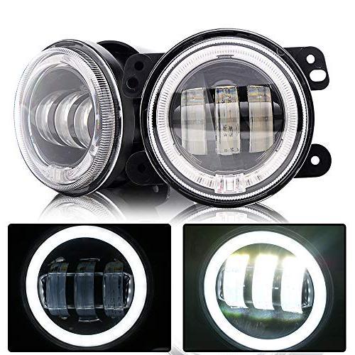 DOT DRL 2PCS Amber/Yellow LED Turn Signal + 2PCS 4Inch 1PCS LED Brake Light For Jeep