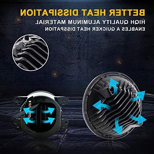 DOT 2PCS Led Round Beam DRL + LED Turn Light + 2PCS Bumper 1PCS LED 3rd Brake Light Jeep JKU