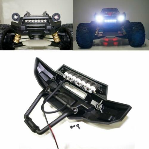 Front Bumper 7 LED Light Bar Lamp Mount for 1/5 Traxxas X-MA