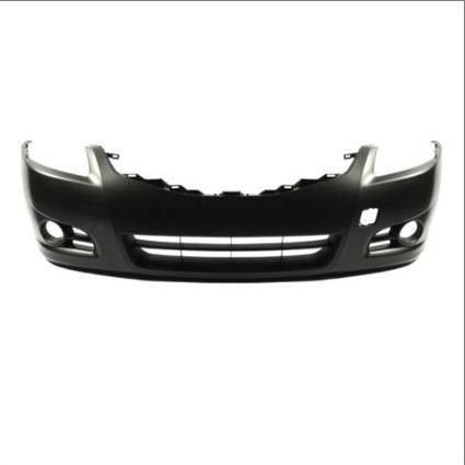 front bumper cover assembly primed black new