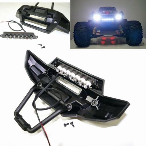 Front Bumper Headlight 7 LED Light Bar Kit for 1/5 Traxxas X