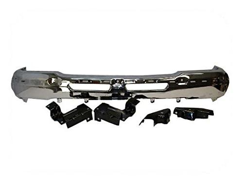 front steel bumper chrome with bracket gm1002819