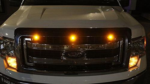 iJDMTOY SVT Style Amber LED Grille Kit Fit For Truck or SUV, High Power Amber Grill Marker
