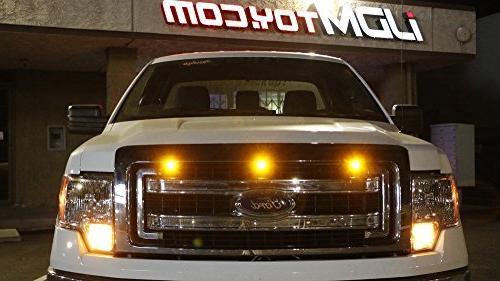 iJDMTOY Raptor Amber LED Kit Truck SUV, High Amber Grill Light