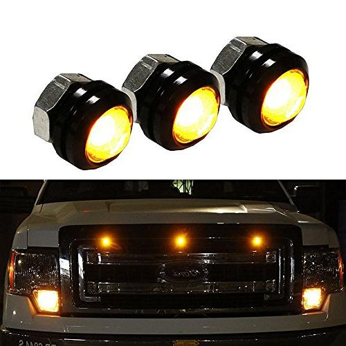 iJDMTOY Raptor Amber Kit Fit For Truck or High Power Amber Grill Marker