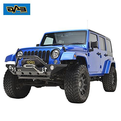 E-Autogrilles 07-16 Wrangler Front with OE Hole and Winch Pla