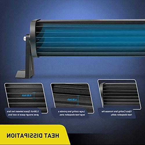 LED Nilight 52Inch 300W LED Work Light Flood LED Lights Bar Driving Off-road UTV,