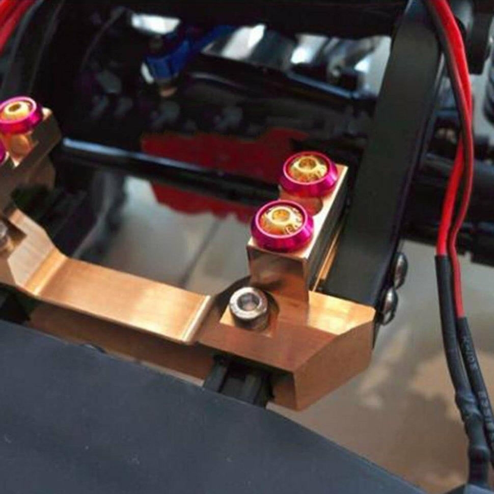 metal brass front bumper mount with servo