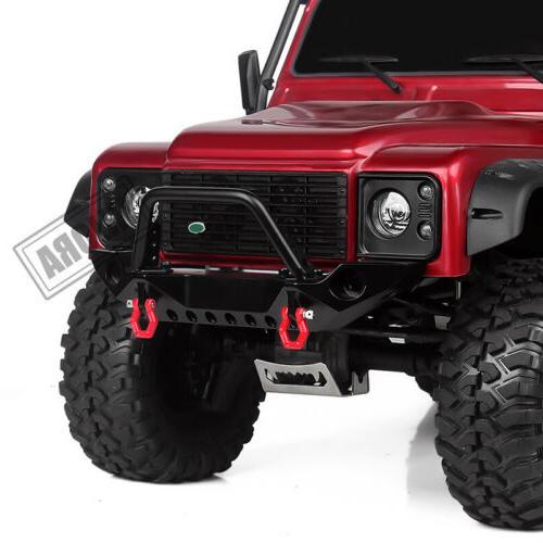Metal Front Bumper & Light for 1/10 RC Traxxas TRX4 &