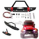 Metal Front Bumper LED Lights For TRAXXAS TRX-4 Axial SCX10