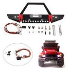 Metal Front Bumper Protector + Headlights Set For TRAXXAS TR