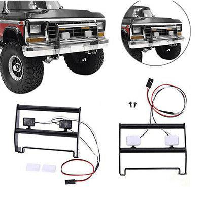 metal front bumper w 2 led lights