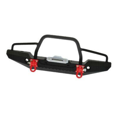 Metal Front Bumper Winch Mount LEDs Traxxas 1/10 Crawler Car